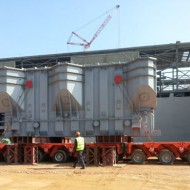 Egytrans/ETAL safely delivers 2×233 Tons Trafos by barge and trailers at Giza North Power Station
